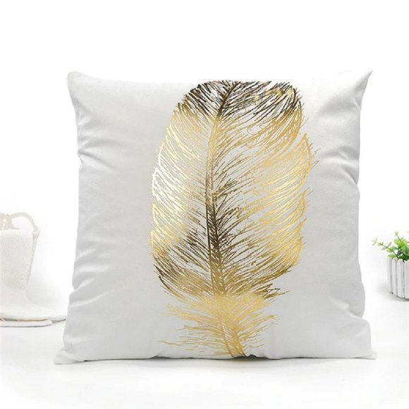 New Fuwatacchi Gold Foil Stamped Pillow Cover